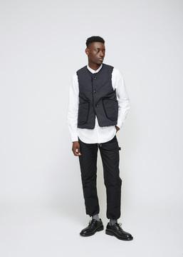 Engineered Garments Black Ripstop Over Vest