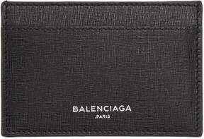 Balenciaga Black Essential Single Card Holder