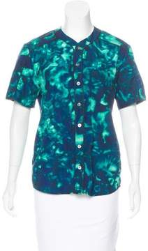 Timo Weiland Tie-Dye Button-Up Top