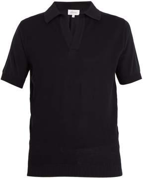 Brioni Spread-collar cotton polo shirt