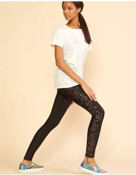 Cynthia Rowley | Gold Safety Pin Legging | L | Black