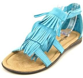 Minnetonka Maya Toddler Open Toe Synthetic Blue Gladiator Sandal.