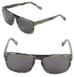 Zac Posen Cain 56MM Rectangular Sunglasses