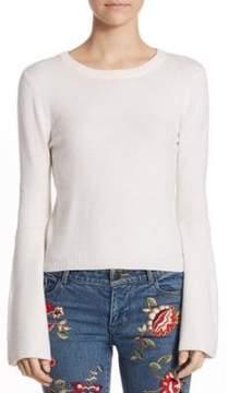 Alice + Olivia Parson Crewneck Bell-Sleeve Sweater