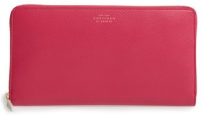 Smythson Women's Panama Calfskin Leather Travel Wallet & Passport Case - Pink