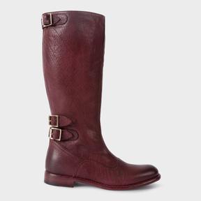 Paul Smith Women's Bordeaux Leather 'Kings' Boots