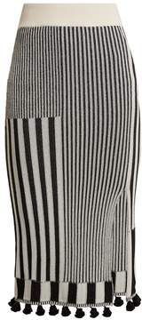 Altuzarra Spire tasselled stretch-knit skirt