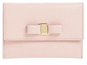 Salvatore Ferragamo Women's Vara Leather Card Case - Pink