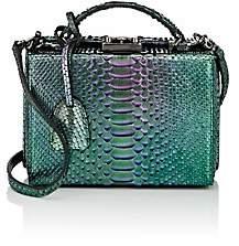 Mark Cross Women's Grace Small Python Box-Grn. Pat.