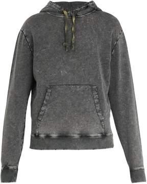 Saint Laurent Hooded logo-print cotton sweatshirt
