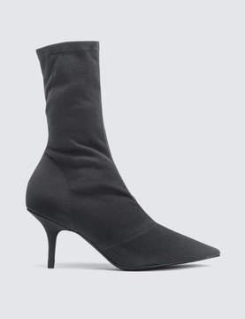 Yeezy Season 6 Women's Ankle Boot In Stretch Canvas 70mm Heel