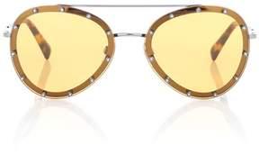 Valentino Embellished aviator sunglasses
