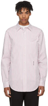 Alexander Wang White and Red Pinstripe NY Post Made You Look Shirt
