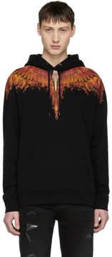 Marcelo Burlon County of Milan Black Flame Wing Hoodie