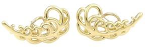 Tiffany & Co. Paloma Picasso 18k Yellow Gold Fern Leaf Stud Earrings