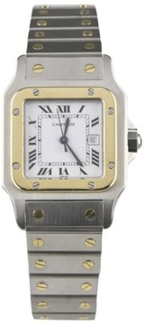 Cartier Santos 18K Yellow Gold & Stainless Steel Automatic 28mm Unisex Watch