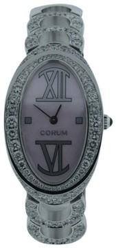 Corum 137.410.69 18K White Gold MOP & 1.5ct Diamond 24mm x 38mm Watch