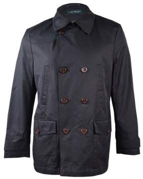 Lauren Ralph Lauren Men's Double-Breasted Raincoat (40L, Black)