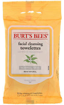 Burt's Bees Women's Facial Cleansing Towelettes With White Tea Extract