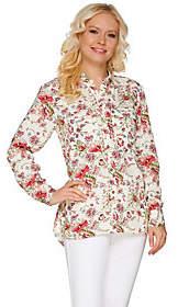 C. Wonder Classic Floral Print Button Front Carrie Blouse