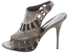 Elizabeth and James Embellished Slide Sandals