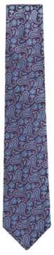 BOSS Hugo Paisley Jacquard Italian Silk Tie One Size Dark Purple