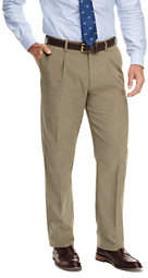 Lands' End Men's Traditional Fit Pleat Front 18-wale Corduroy Trousers-Smokey Olive