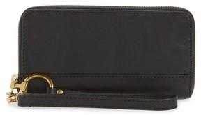 Frye Women's Ilana Harness Phone Leather Zip Wallet - Black