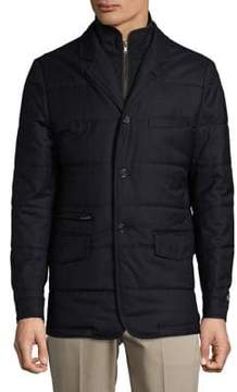 Black & Brown Black Brown Quilted Wool Jacket