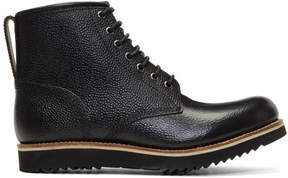 Grenson Black Dawson Lace-Up Boots