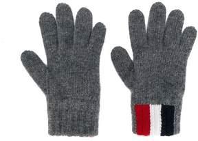 Moncler classic stripe gloves