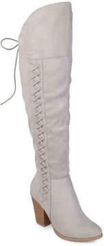 Journee Collection Women's Spritz Wide Calf Over The Knee Boot