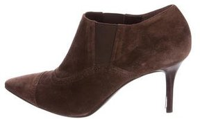 Ralph Lauren Collection Pointed-Toe Suede Booties