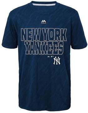 Majestic Boys 8-20 New York Yankees Geo Fuse Sublimated Cool Base Tee
