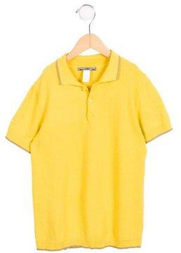 Bonpoint Boys' Short Sleeve Collared Shirt