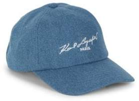 Karl Lagerfeld Paris Cotton Baseball Cap