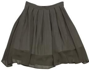 Aquascutum London Green Pleated Skater Skirt