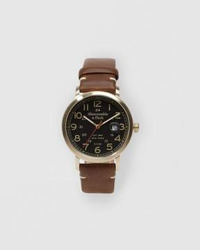 Abercrombie & Fitch Leather-Strap Watch