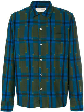 Universal Works checked print shirt