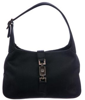 Gucci Vintage Satin Jackie Bag - BLACK - STYLE