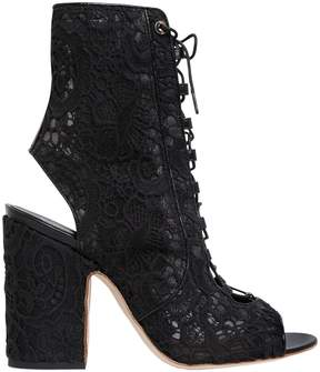 Laurence Dacade 100mm Nelly Lace-Up Open Toe Boots