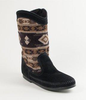 Minnetonka Baja Suede Woven Detail Boots