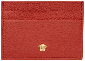 Versace Red Small Medusa Card Holder