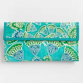 World Market Peacock Leather Wallet