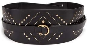 Isabel Marant Stud-embellished leather wraparound belt