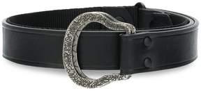 Lanvin engraved buckle belt
