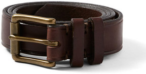 Frank and Oak Italian Leather Belt in Walnut