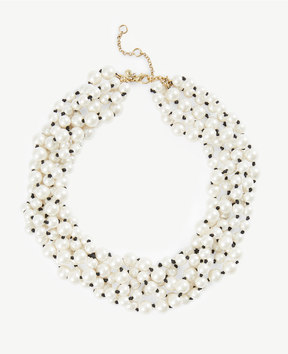 Ann Taylor Pearlized Cluster Necklace