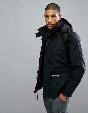 Jack Wolfskin Century 3 in 1 Jacket in Black