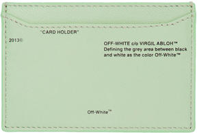 Off-White Green Small Off Card Holder